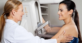 Mamografia: Exame da mama com mamógrafo